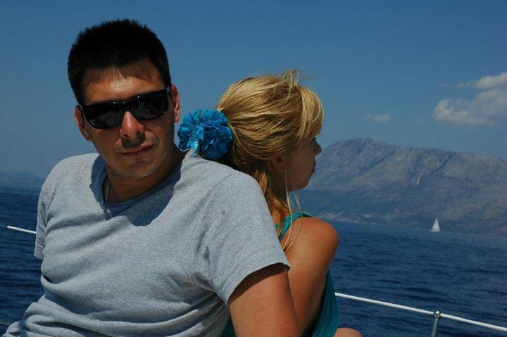 Bojan i Jelena na jedrenju